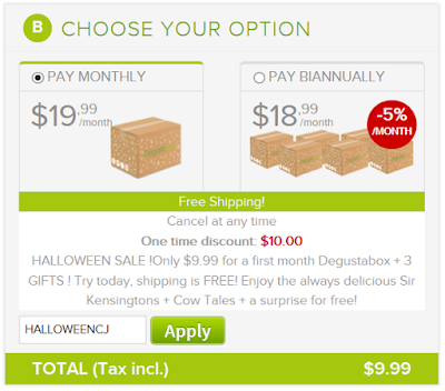 Degustabox October Promo Code