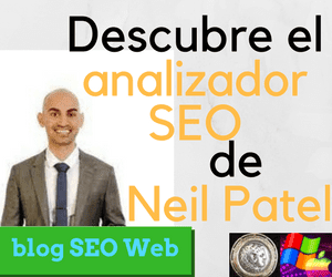 Análisis SEO, herramienta SEO gratis para posicionar y mejorar en las serp's de búsquedas de Neil Patel en su blog.