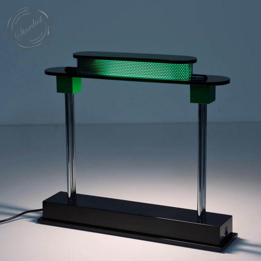 PAUSANIA™ Artemide Library Desk Lamp W. Emerald Green Shade