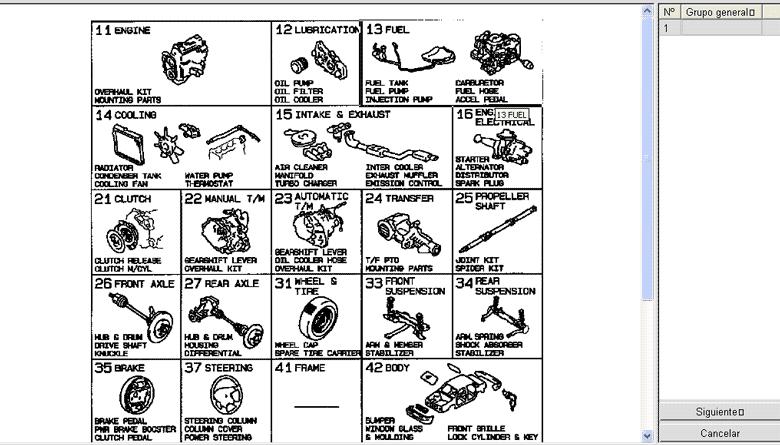 MITSUBISHI: Catálogo de Partes (2014-1982) Autos
