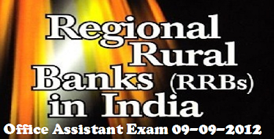 IBPS RRB Office Assistant 09 September 2012 (09-09-2012)
