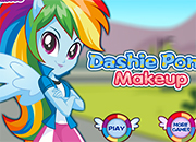 Rainbow Dashie Pony Makeup
