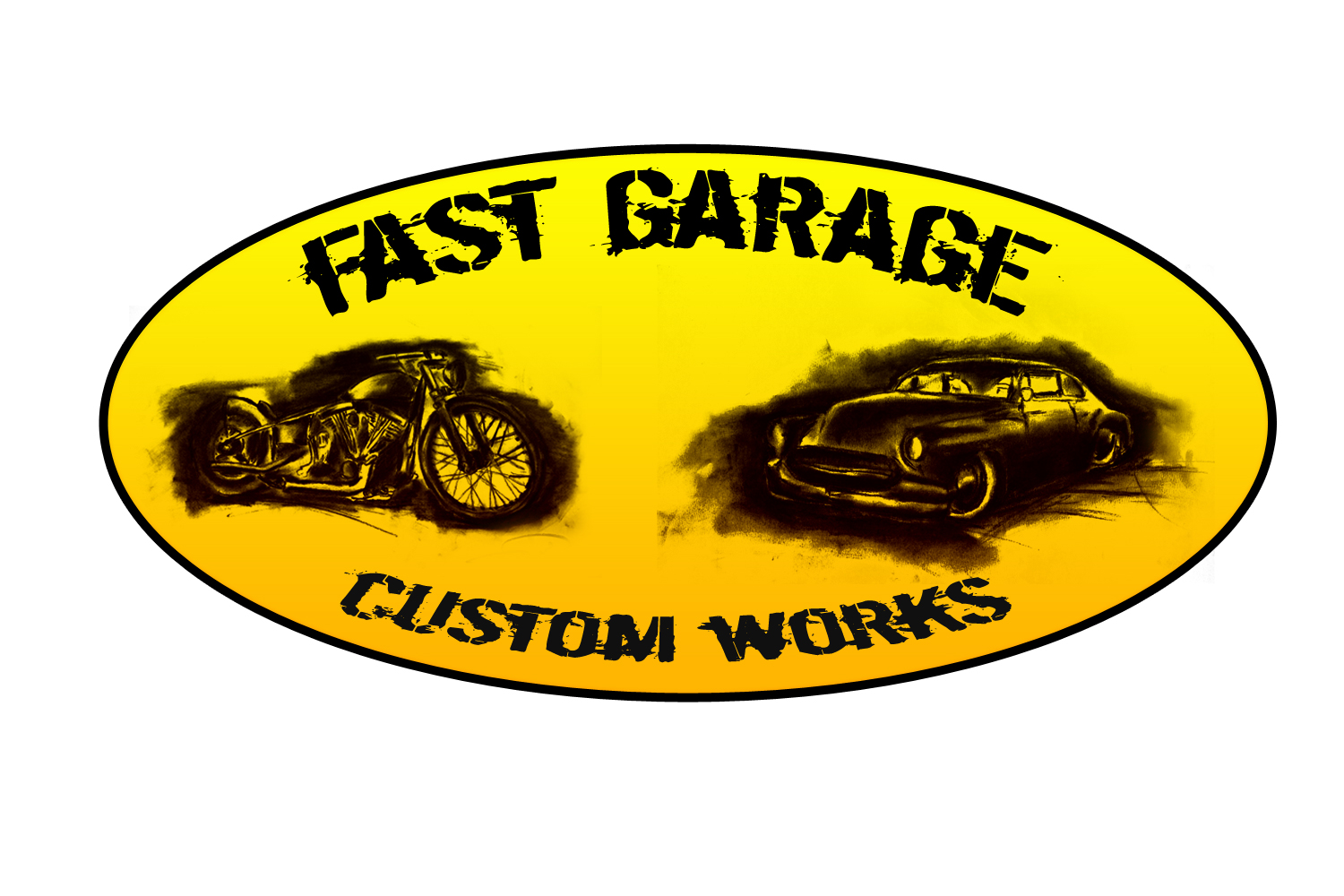 fast garage automobiles motorcycles restorations and custom works the start of a new logo by. Black Bedroom Furniture Sets. Home Design Ideas