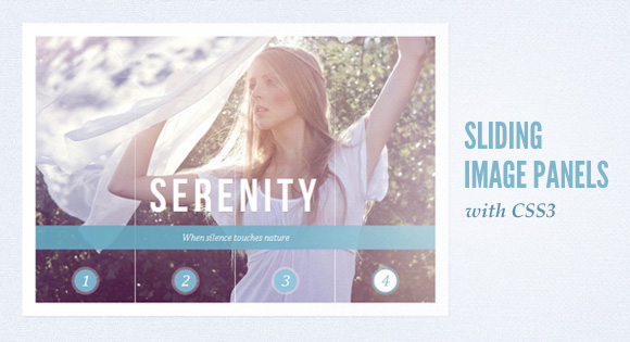 Free Tutorial Sliding Image Panels with CSS3
