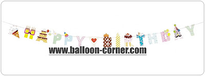 Bunting Banner HAPPY BIRTHDAY Motif Mix