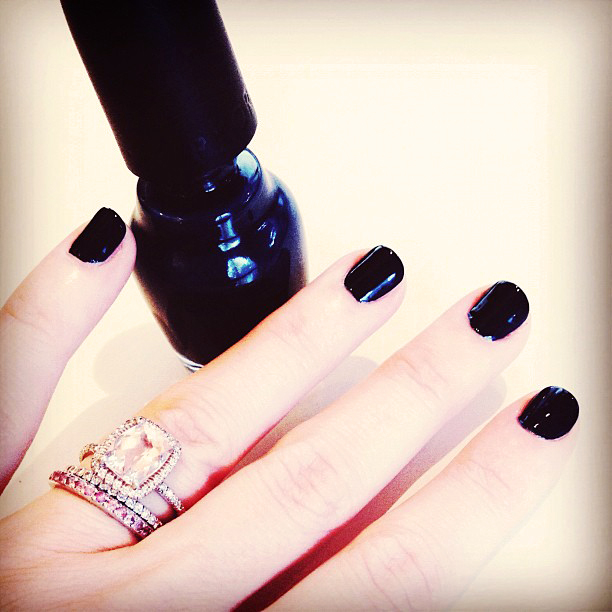 nails, manicure, rings