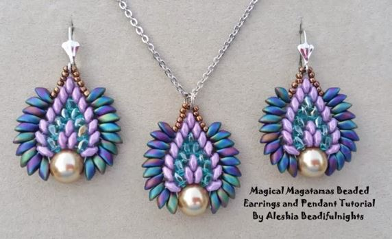 Beautiful Magatama And Superduo Beaded Jewelry Tutorials