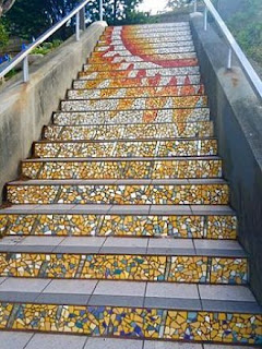 Neighborhood residents participated in creating the 16th Avenue Tiled Steps Project in San Francisco