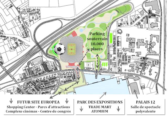 EUROSTADIUM BRUSSELS - Nouveau stade national de football à Grimbergen - Suite du feuilleton rocambolesque de 2015 à...-  Quand la Région bruxelloise renonce à investir dans le prolongement de la ligne de métro vers le parking C - Bruxelles-Bruxellons