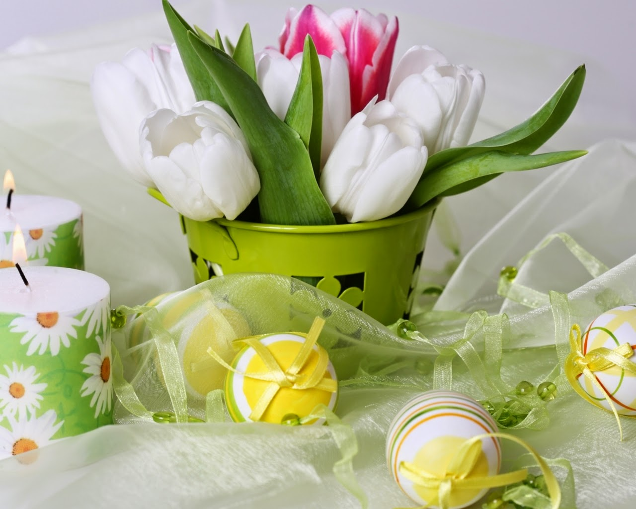 happy easter bunnies flowers-#19
