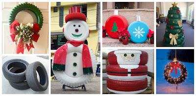 adornos-navideños-con-llantas-recicladas
