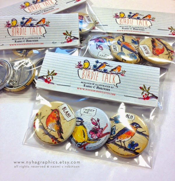 Birdie talk Badge Set