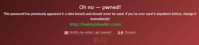 Cek password yang pernah dibobol hacker1