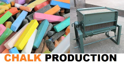 School Chalk Production Business and Machine