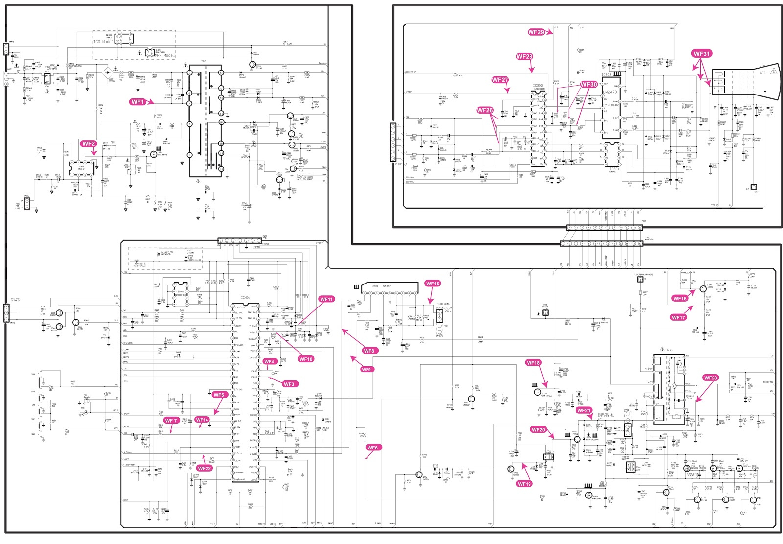 lg crt monitor circuit diagram