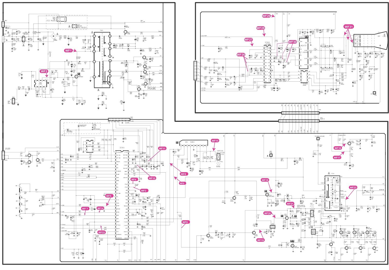 hcl crt monitor circuit diagram