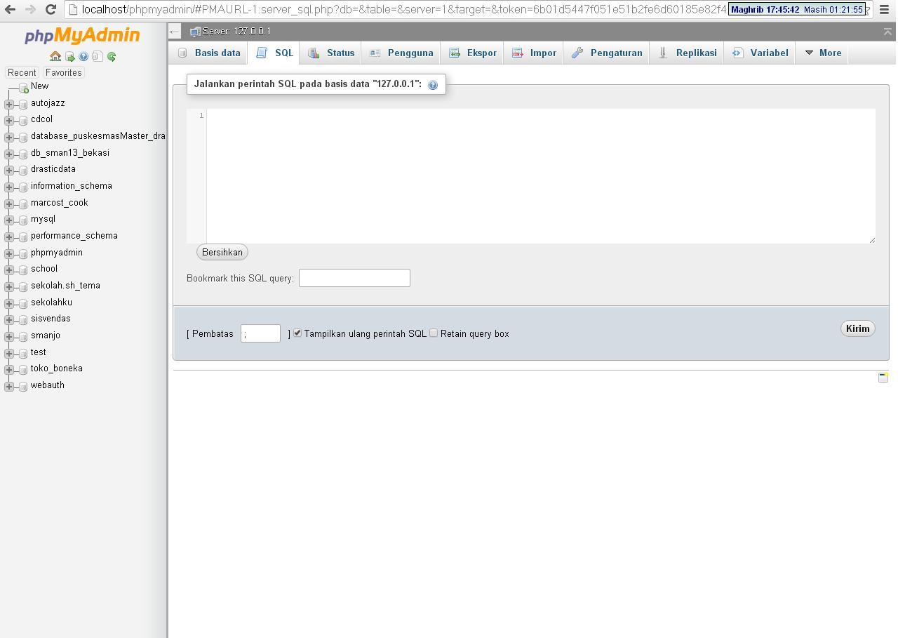 Cara Menjalankan SCRIPT SQL dengan XAMPP - Source Code