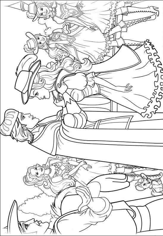 barbie 3 musketeers coloring pages - photo#23