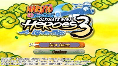naruto ultimate ninja heroes 3 psp cheat codes