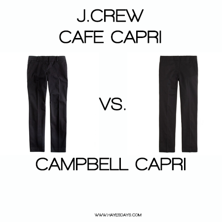 Style Day: J.Crew Campbell Capri vs. Cafe Capri