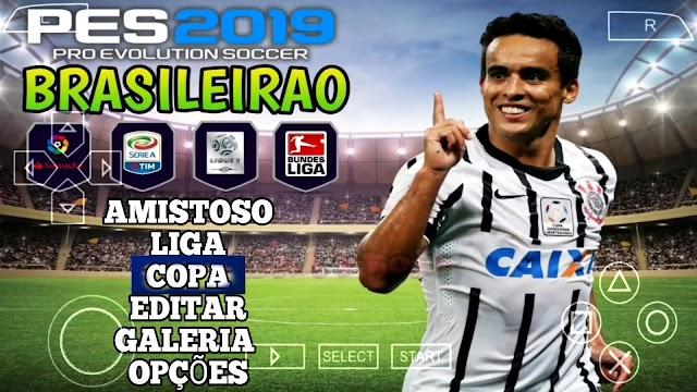 SAIU!! NOVO PES 2019 PPSSPP + CÂMERA DE PS4 NARRAÇÃO DE ANDRÉ HENNING PARA PSP & ANDROID
