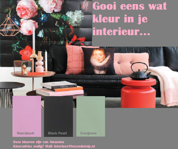 Huyze de tulp gooi 39 ns wat kleur in je interieur for Kleur in je interieur