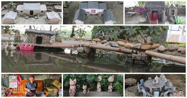台中霧峰|大里溪橋下小人國-阿伯利用資源回收物建造的農村小人國