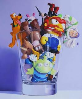 hiperrealistas-pinturas-de-juguetes cuadros-juguetes-pinturas