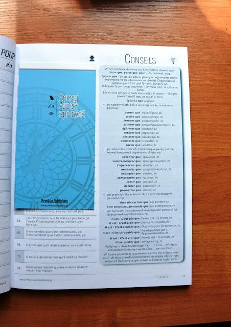 """Recenzje #7 - """"Francuski w tłumaczeniach cz. 3"""" - przykładowa strona 1 - Francuski przy kawie"""
