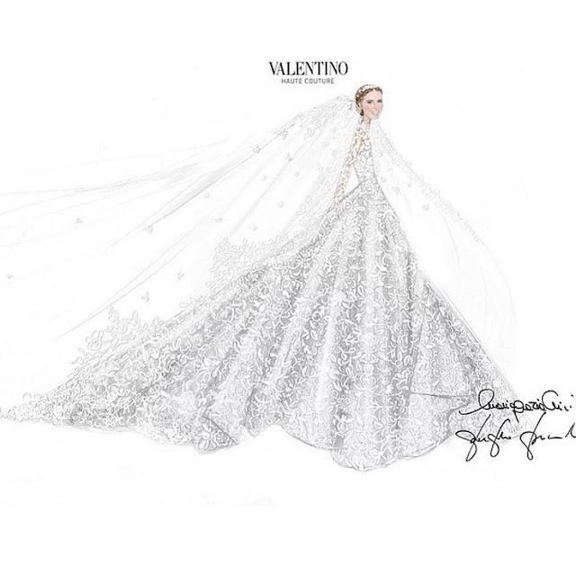 Nick Hilton vestido de noiva croqui valentino, irmã da Paris Hilton