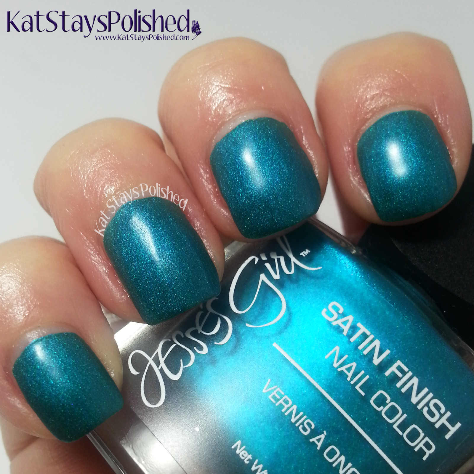 Jesse's Girl Satin Nail Color - Sea Glass | Kat Stays Polished