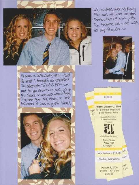 from Blake first year dating scrapbook