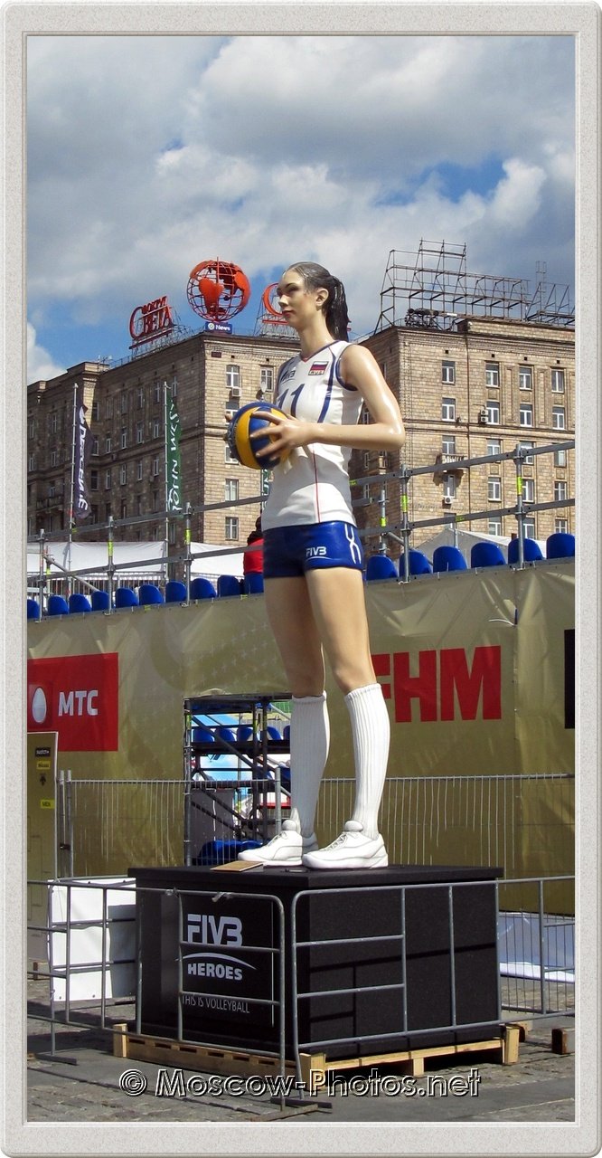 Sculpture of Russian Volleyball Player Ekaterina Gamova