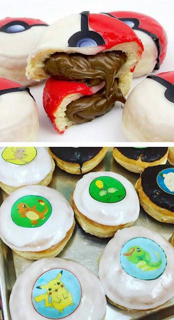 donut dengan karakter pokemon go
