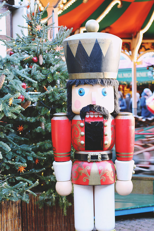 Giant nutcracker Christmas decoration