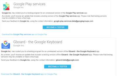 Google Allowed to Sign-up for G. Play Services and Gboard Beta With New Google Play Store Update