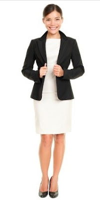 Females: professional office attire