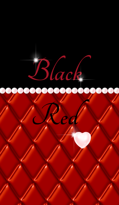 Heart shaped pearl: Black & Red