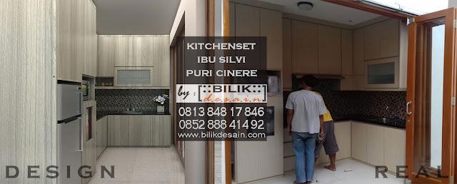 desain kitchenset cinere depok murah