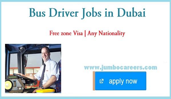 Dubai bus driver jobs for Indians, Current job vacancies in Dubai,