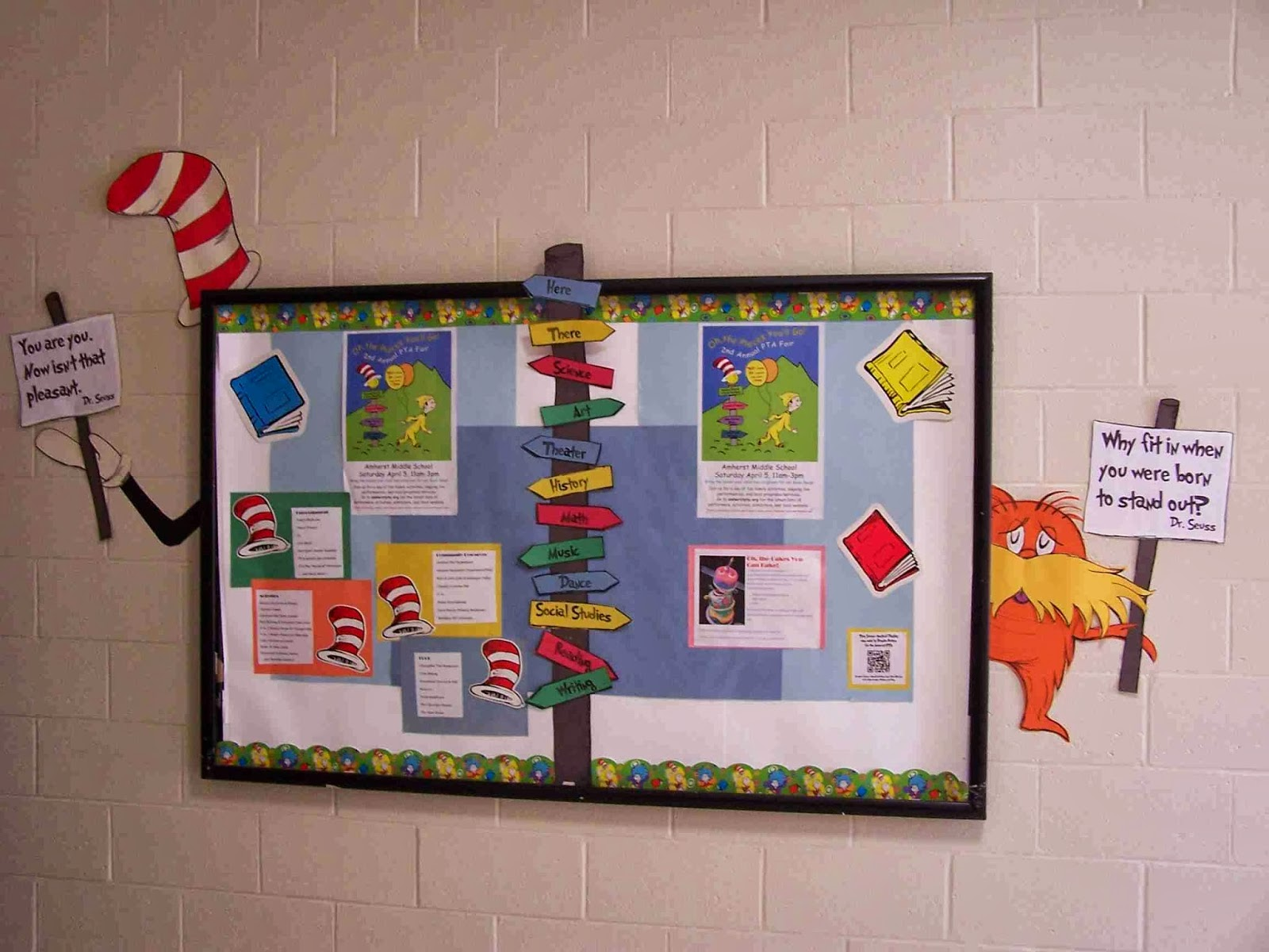 Create Art With Mrs P My Seuss Ical Bulletin Board