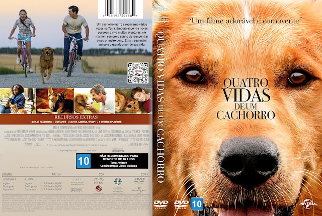 Capa DVD Quatro Vidas de Um Cachorro [Custom]