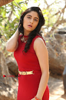 Telugu Actress Zahida Sam Latest Pos in Red Gown at RF Films New Movie Opening  0095.JPG