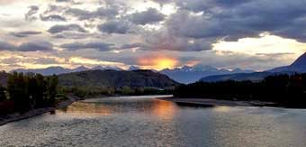 sunrise Skeena river
