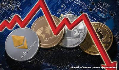 Новый обвал на рынке криптовалют