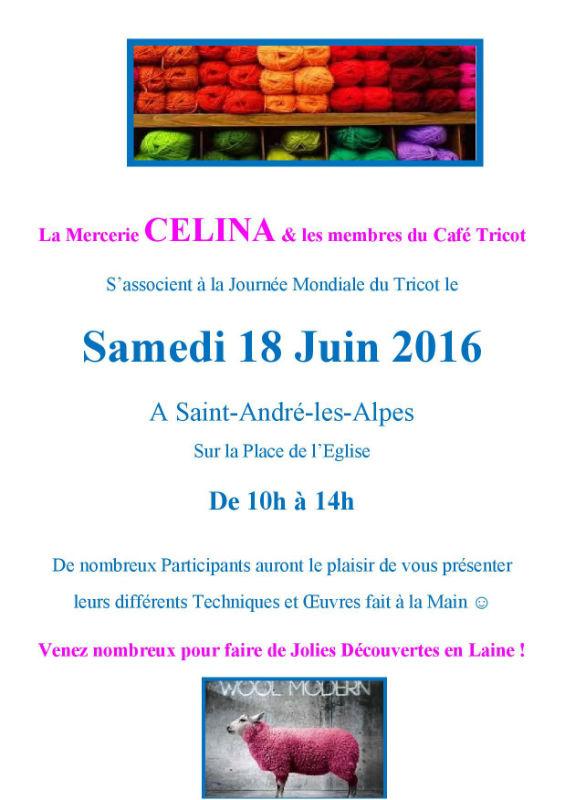 Journée mondiale du tricot 2016 chez CELINA