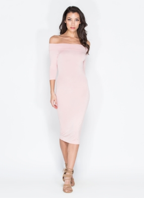 Soft light shoulder dress