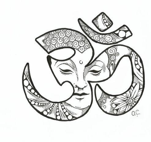 35 Plantillas Símbolo Om Para Tatuajes Adn Tatuajes Y Estetica