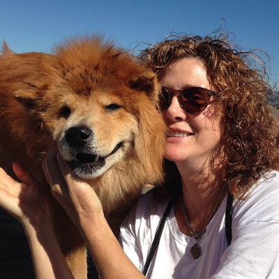 Jean Donaldson with her late chow chow Buffy