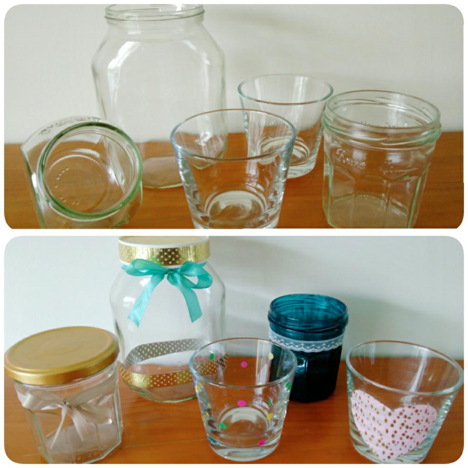 Deco petit pot en verre fashion designs - Comment decorer des pots en verre ...